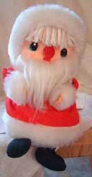 Vintage Musical Santa Claus Table Shelf Sitter