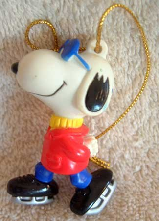 SNOOPY on Ice Skates Winter Holiday Ornament