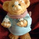 Teddy BEAR w/ Snowflake Scarf Seasonal Holiday Decor NWT