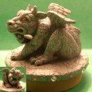 Dragon GARGOYLE Candle Jar Fantasy Topper -NIB- Our America