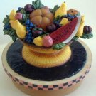 Country Classics Fruit Bowl YANKEE Candle : Warren Kimble : Candle Topper