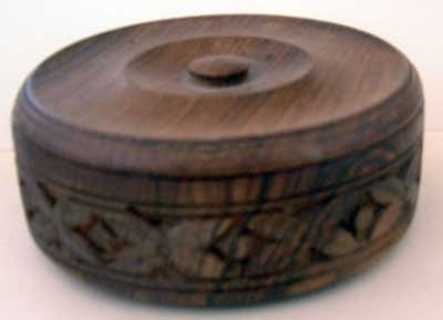 Wooden Carved Mint IndiaCondition Trinket Box