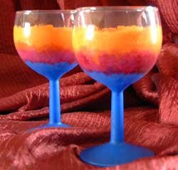 Sunset Wine Glass Hand Painted Exclusive Design DW Safe!