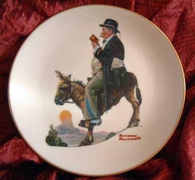 Norman Rockwell Plate Danbury Mint 'The Tourist'