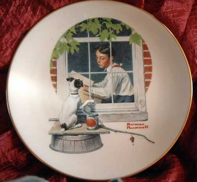 Norman Rockwell Collector Plate Danbury Mint 'Daydreaming'