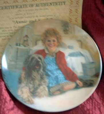 'Annie & Sandy' Bradford Exchange LMT ED Collector Plate