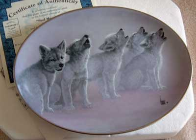 'Soul Music' Wolf Bradford Exchange Collector Plate