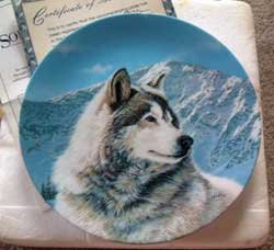 Wolf 'Solitary Watch' Bradford Exchange Collector Plate