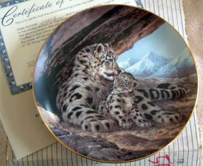 'Snow Leopard' Wildlife Society LMT ED Collector Plate