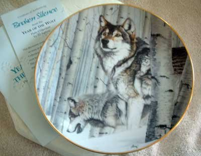 'Broken Silence' Wolf Hamilton Collection Collector Plate