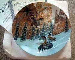 'Canyon of the Cat' Hidden Image Bradford Exchange Collector Plate