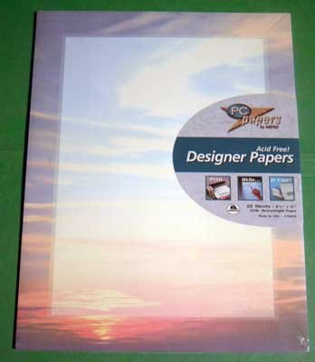 Designer Paper - Sunset - 24 lb. Acid Free NIP 25 Sheets