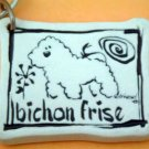 Bichon Frese Cavern Canine Dog Breed Stoneware Ceramic Clay Jewelry Key Chain McCartney - NEW
