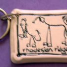 Rhodesian Ridgeback Cavern Canine Dog Breed Stoneware Ceramic Clay Jewelry Key Chain McCartney - NEW