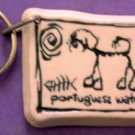 Portuguese Water Dog Cavern Canine Breed Stoneware Ceramic Clay Jewelry Key Chain McCartney - NEW