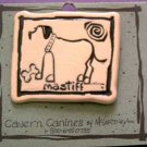 Mastiff Cavern Canine Dog Breed Stoneware Ceramic Clay Jewelry Pin McCartney - NEW