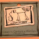Weimaraner Cavern Canine Dog Breed Stoneware Ceramic Clay Jewelry Pin McCartney - NEW