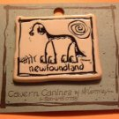 Newfoundland Newfy Cavern Canine Dog Breed Stoneware Ceramic Clay Jewelry Pin McCartney - NEW