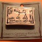 Portuguese Water Dog Cavern Canine Breed Stoneware Ceramic Clay Jewelry Pin McCartney - NEW