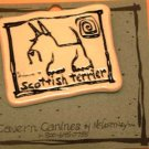 Scottish Terrier Cavern Canine Dog Breed Stoneware Ceramic Clay Jewelry Pin McCartney - NEW