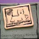 Westie Terrier Cavern Canine Dog Breed Stoneware Ceramic Clay Jewelry Pin McCartney - NEW