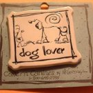 DOG LOVER Cavern Canine Stoneware Ceramic Clay Jewelry Pin McCartney - NEW