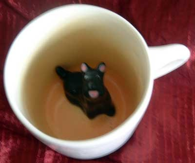 Spademan Pottery Mug Collectible SALE! : Scottish Terrier Peek-A-Boo : NEW