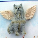 Schnauzer Guardian Angel Dog Pin - Ganz