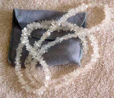 Genuine Crystal Quartz 36'' Strand Necklace