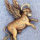 When Cows Fly! JJ Jonette Jewelry Lapel Pin