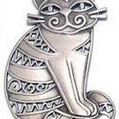 Funky Kitty Cat JJ Jonette Jewelry Lapel Pin