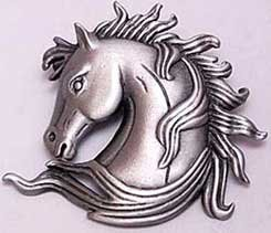 Elegant Horse Head Bust JJ Jonette Jewelry Lapel Pin
