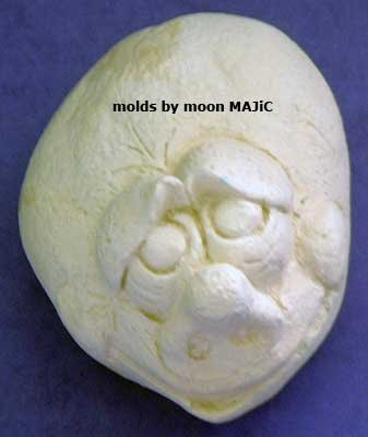 SILICONE MOLD Silly ROCK FACE #3 Candle Soap Resin Molds