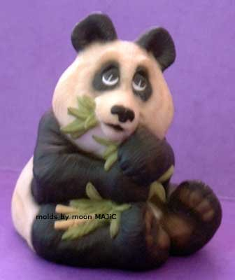 PANDA BEAR Extremely Cute! SILICONE Candle Soap Resin Plaster Cement MOLD