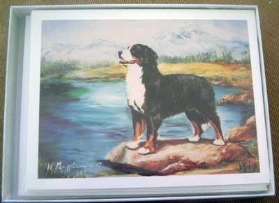 Bernese Mountain Dog #2 Dog Notecards Envelopes Set - Maystead - NEW