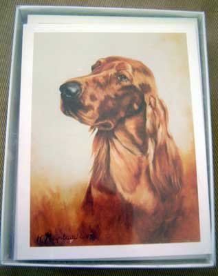Irish Setter #2 Dog Notecards Envelopes Set - Maystead - NEW