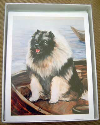 Keeshond #5 Dog Notecards Envelopes Set - Maystead - NEW