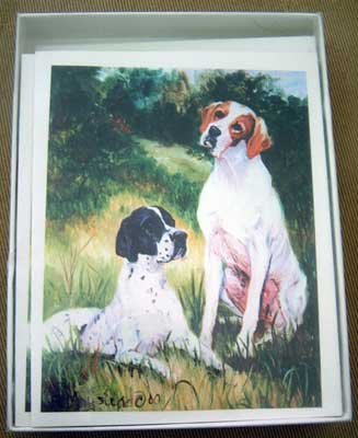 Pointer #3 Dog Notecards Envelopes Set - Maystead - NEW