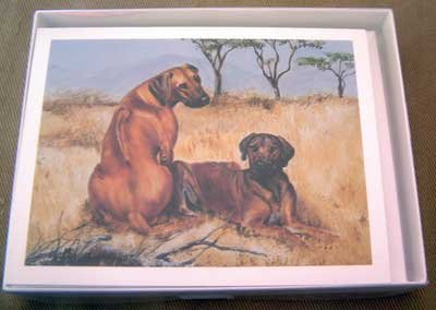 Rhodesian Ridgeback #6 Dog Notecards Envelopes Set - Maystead - NEW