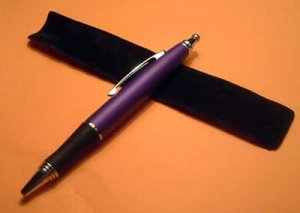 Purple Heavy Weight Writing Pen GIFT Pouch Imprintable NEW