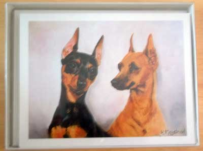 Min Pin #4 Dog Notecards Envelopes Set - Maystead - NEW