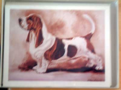 Basset Hound #11 Dog Notecards Envelopes Set - Maystead - NEW
