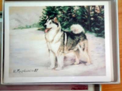 Alaskan Malemute #6 Dog Notecards Envelopes Set - Maystead - NEW