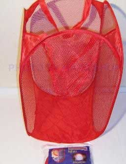 Red Mesh Bag NIP - Portable Light Weight Hamper or Storage Container