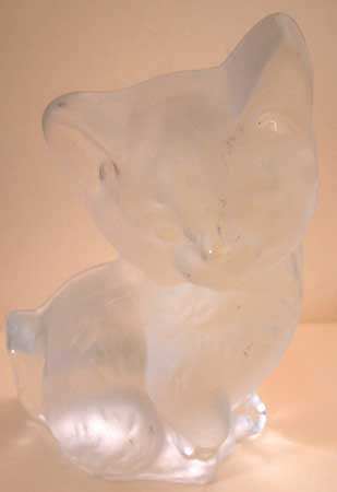 Lead Crystal CAT Viking Handmade Heavy Vintage Figurine #2