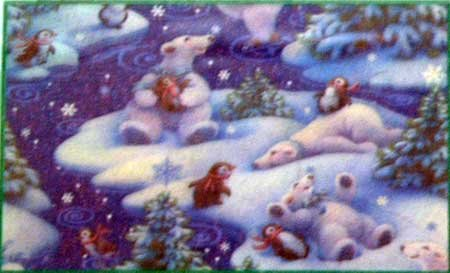 Jigsaw Puzzle Polar Bears Penguins Winter Scene NIP