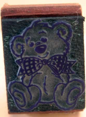 Rubber Stamp Inky Dinks Bow Tie Bear Craft Mounted