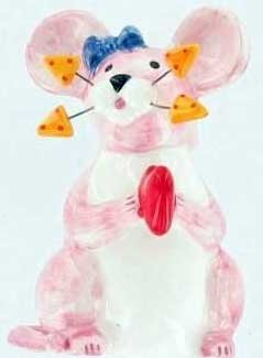 Mouse Heart Lil' Squeekers by Annaco Creation BNIB Collectible