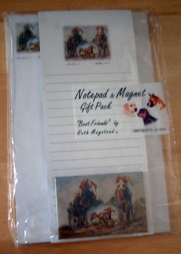 Horse Race Note/Magnet Gift Set (b) Maystead - NIP