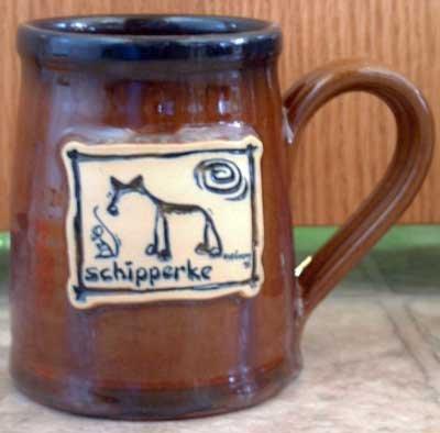 Shipperke Cavern Canine Dog Breed Ceramic Clay Mug Cup McCartney - NEW